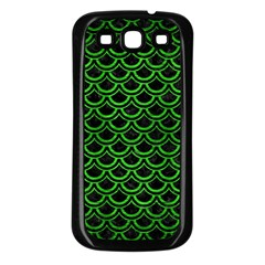Scales2 Black Marble & Green Brushed Metal Samsung Galaxy S3 Back Case (black)