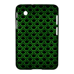 Scales2 Black Marble & Green Brushed Metal Samsung Galaxy Tab 2 (7 ) P3100 Hardshell Case