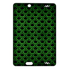 Scales2 Black Marble & Green Brushed Metal Amazon Kindle Fire Hd (2013) Hardshell Case