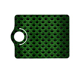 Scales2 Black Marble & Green Brushed Metal Kindle Fire Hd (2013) Flip 360 Case