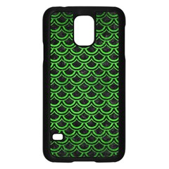 Scales2 Black Marble & Green Brushed Metal Samsung Galaxy S5 Case (black)