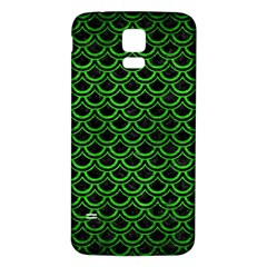 Scales2 Black Marble & Green Brushed Metal Samsung Galaxy S5 Back Case (white)