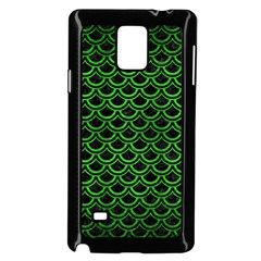 Scales2 Black Marble & Green Brushed Metal Samsung Galaxy Note 4 Case (black)