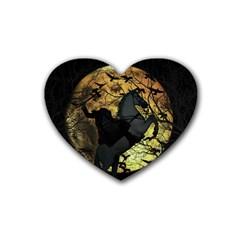 Headless Horseman Rubber Coaster (heart)
