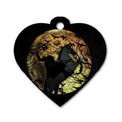 Headless Horseman Dog Tag Heart (two Sides)