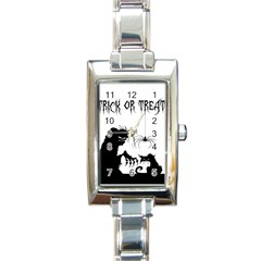 Halloween Rectangle Italian Charm Watch
