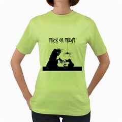 Halloween Women s Green T Shirt