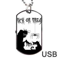 Halloween Dog Tag Usb Flash (one Side)