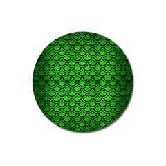 Scales2 Black Marble & Green Brushed Metal (r) Magnet 3  (round)