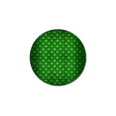 Scales2 Black Marble & Green Brushed Metal (r) Golf Ball Marker (4 Pack)