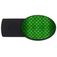 Scales2 Black Marble & Green Brushed Metal (r) Usb Flash Drive Oval (2 Gb)