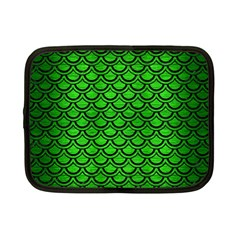Scales2 Black Marble & Green Brushed Metal (r) Netbook Case (small)