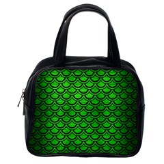 Scales2 Black Marble & Green Brushed Metal (r) Classic Handbags (one Side)