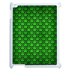 Scales2 Black Marble & Green Brushed Metal (r) Apple Ipad 2 Case (white)