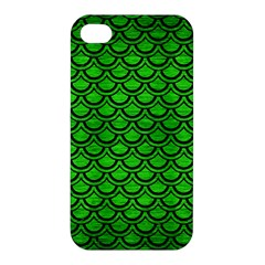 Scales2 Black Marble & Green Brushed Metal (r) Apple Iphone 4/4s Hardshell Case