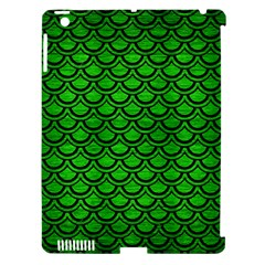 Scales2 Black Marble & Green Brushed Metal (r) Apple Ipad 3/4 Hardshell Case (compatible With Smart Cover)