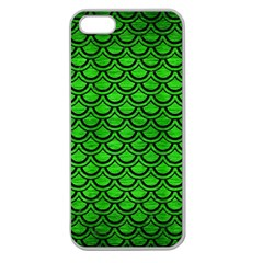 Scales2 Black Marble & Green Brushed Metal (r) Apple Seamless Iphone 5 Case (clear)