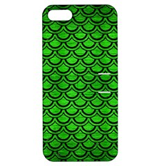 Scales2 Black Marble & Green Brushed Metal (r) Apple Iphone 5 Hardshell Case With Stand
