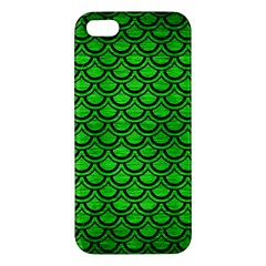 Scales2 Black Marble & Green Brushed Metal (r) Apple Iphone 5 Premium Hardshell Case