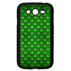 Scales2 Black Marble & Green Brushed Metal (r) Samsung Galaxy Grand Duos I9082 Case (black)