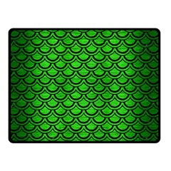 Scales2 Black Marble & Green Brushed Metal (r) Double Sided Fleece Blanket (small)