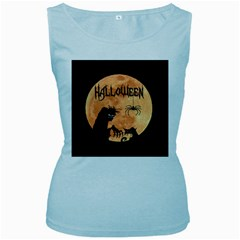 Halloween Women s Baby Blue Tank Top