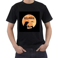 Halloween Men s T Shirt (black) (two Sided)