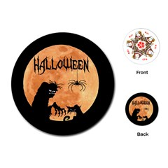 Halloween Playing Cards (round)