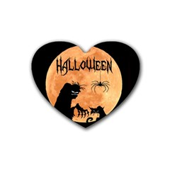 Halloween Heart Coaster (4 Pack)