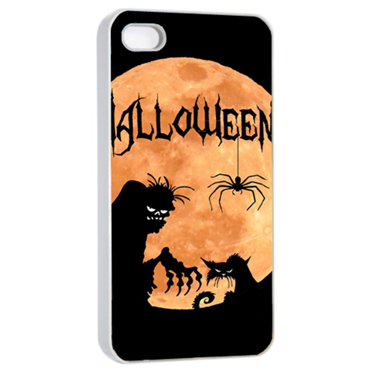 Halloween Apple iPhone 4/4s Seamless Case (White)