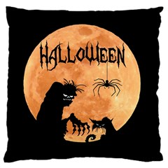 Halloween Large Cushion Case (two Sides)