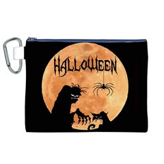 Halloween Canvas Cosmetic Bag (xl)