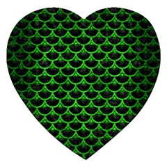 Scales3 Black Marble & Green Brushed Metal Jigsaw Puzzle (heart)