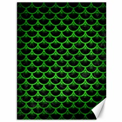 Scales3 Black Marble & Green Brushed Metal Canvas 36  X 48