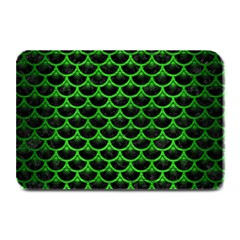 Scales3 Black Marble & Green Brushed Metal Plate Mats