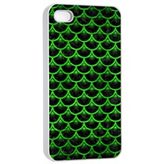 Scales3 Black Marble & Green Brushed Metal Apple Iphone 4/4s Seamless Case (white)