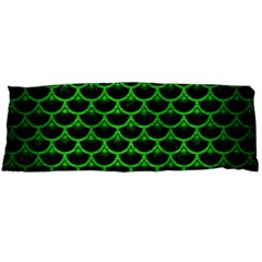 Scales3 Black Marble & Green Brushed Metal Body Pillow Case Dakimakura (two Sides)