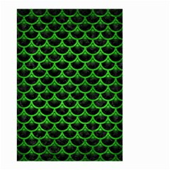 Scales3 Black Marble & Green Brushed Metal Small Garden Flag (two Sides)