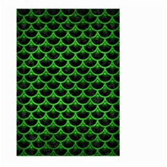 Scales3 Black Marble & Green Brushed Metal Large Garden Flag (two Sides)