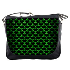 Scales3 Black Marble & Green Brushed Metal Messenger Bags