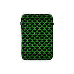 Scales3 Black Marble & Green Brushed Metal Apple Ipad Mini Protective Soft Cases