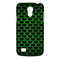 Scales3 Black Marble & Green Brushed Metal Galaxy S4 Mini