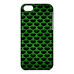 Scales3 Black Marble & Green Brushed Metal Apple Iphone 5c Hardshell Case