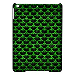 Scales3 Black Marble & Green Brushed Metal Ipad Air Hardshell Cases