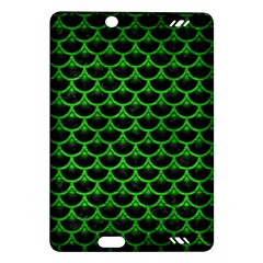 Scales3 Black Marble & Green Brushed Metal Amazon Kindle Fire Hd (2013) Hardshell Case