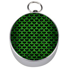 Scales3 Black Marble & Green Brushed Metal Silver Compasses