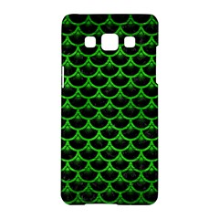 Scales3 Black Marble & Green Brushed Metal Samsung Galaxy A5 Hardshell Case