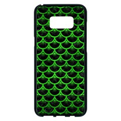 Scales3 Black Marble & Green Brushed Metal Samsung Galaxy S8 Plus Black Seamless Case