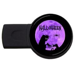 Halloween Usb Flash Drive Round (4 Gb)