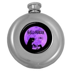Halloween Round Hip Flask (5 Oz)